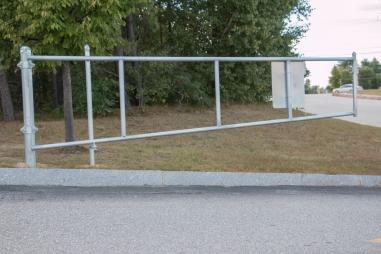 Galvanized barway gate