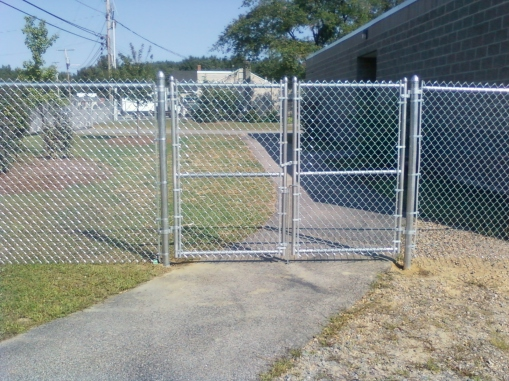 Galvanized double swing gate