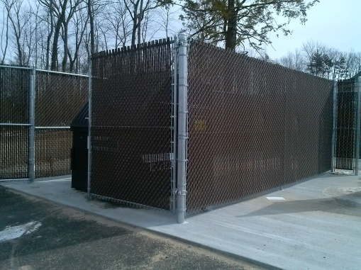 Dumpster Enclosure with Privacy Slats