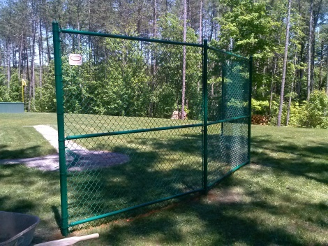 Backstop: Green Vinyl Coated System