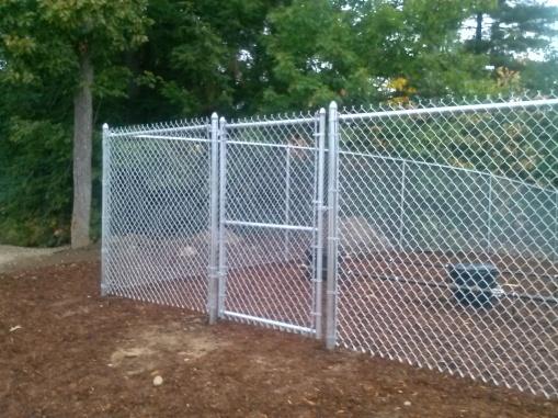 Galvanized chain link with single walk gate
