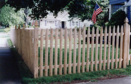Spaced Picket set on 4x4 Boston Top posts