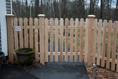 Popsicle Stick Gate (front)