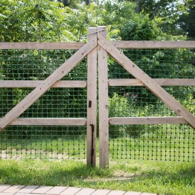 "Old fashioned split rail gates are constructed with 4""x4"" cedar frames and 3""x3"" cedar rails"