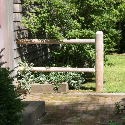 "2-rail round cedar post & rail - ""wing section"""