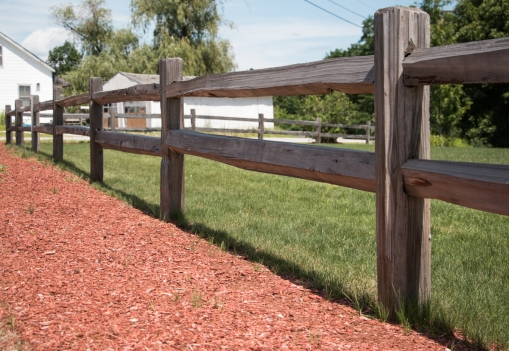 2-Rail Western Red Cedar Split Rail