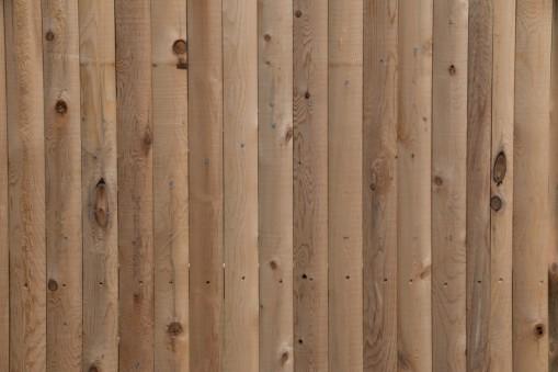 Detail of Rustic Grade Cedar Stockade